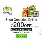India Desire : Reliance Fresh Direct Grocery Coupons & Offers : Get Flat Rs.200 off on Grocery via SBI Buddy Wallet