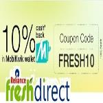 India Desire : Reliance Fresh Mobikwik Offer : Get Flat 10% Cashback Via Mobikwik Wallet At Reliance Fresh Direct [FRESH10]