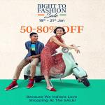 India Desire : Myntra Right To Fashion Sale: Get 50% To 80% Off On Wide Range Of Fashion [18th To 21st Jan 2020]