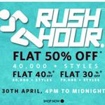 India Desire : Myntra Rush Hour Sale : Get Minimum 50% Off Clothing Footwears &  Accessories