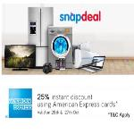 India Desire : Snapdeal Amex Offer : Extra 25% Instant Discount At Snapdeal Via American Express Card