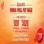 India Desire : Spicejet India Will Fly Sale: Flight Tickets Starting At Rs 826