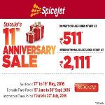 India Desire : Spicejet 11th Anniversary Sale: Domestic Flight Fares Starting At Rs 511 Onwards