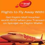 India Desire : Spicejet Paytm Offer : Get Rs. 250 Paytm Voucher On Spicejet Flight Bookings Via Paytm