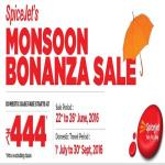 India Desire : Spicejet Monsoon Sale: Fares Starting From Rs 444
