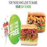 India Desire : Subway BOGO Offer : Buy 1 Get 1 Free Sub, Salad, Coke On 26 August 2016