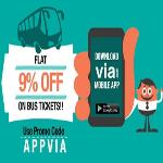 India Desire : Via Bus Booking Coupon & Offer : Flat 9% Off On Bus Booking From Via App [APPVIA]