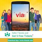India Desire : Via.com App Refer & Earn Offer: Free Rs. 500 Credit + Refer 5 Friends & Earn Rs. 100 Mobile Recharge