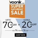 India Desire : Voonik Super Saturday Sale : Get Upto 70% Off On Western Wear + Extra Upto 20% Cashback With Freecharge/Mobikwik