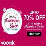 India Desire : Voonik Special December Sale : Get Upto 70% Off On All Products [9th To 11th Dec]
