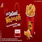India Desire : KFC Wednesday Offers :10 Pcs Hot And Crispy Chicken For Rs 500 only