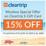 India Desire : Woohoo Cleartrip Special Offer: Get 15% Off On Cleartrip E-gift Cards From Woohoo