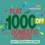 India Desire : Yatra FLYDAY Sale : Get Upto Rs. 1000 Off On Domestic Flights Booking