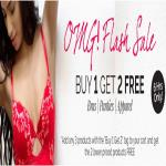 India Desire : Zivame 6 Hours Magic Cart Sale : [6PM To 12AM] Buy 1 Get 2 Free On Bras, Panties & Apparels