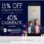 India Desire : Zoomin Ola Money Offer : Get 15% Off + 40% Cashback With Ola Money At Zoomin