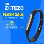 India Desire : Zotezo Re 1 Flash Sale : Register Now For Fitness Band At Rs 1 @2PM 14th Oct